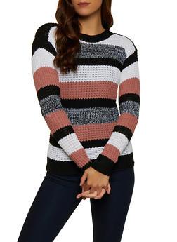 Striped Crew Neck Sweater | 3020038349127 - 3020038349127