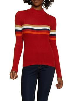 Stripe Detail Sweater - 3020038349424