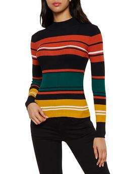Multi Color Stripe Sweater - 3020038349430