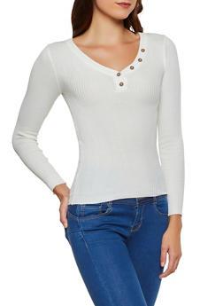 Half Button Sweater - 3020038349431