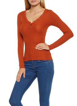 Half Button Sweater - 3020038349431