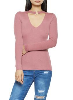 O Ring Keyhole Sweater - 3020051060073