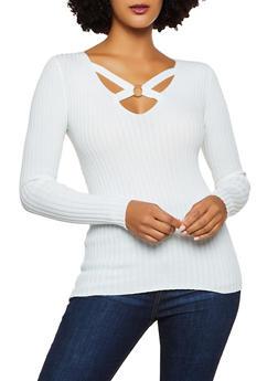 O Ring Detail Sweater - 3020051060204
