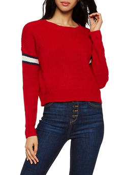 Striped Detail Sweater - 3020051930214