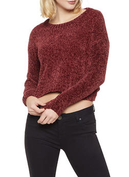 Cropped Chenille Sweater - 3020051930555