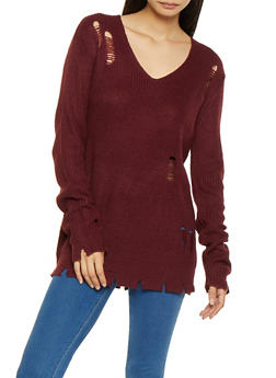 Distressed Knit Sweater - 3020054260543