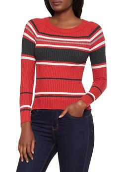 Striped Crew Neck Sweater | 3020054261472 - 3020054261472
