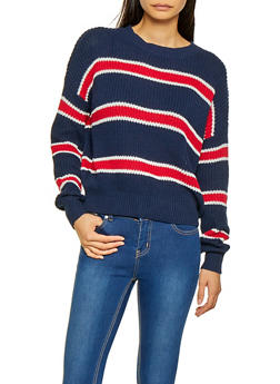 Striped Long Sleeve Sweater | 3020054261490 - 3020054261490