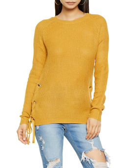 Lace Up Side Sweater - 3020054265920