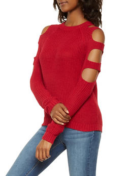 Caged Sleeve Sweater - 3020054265921