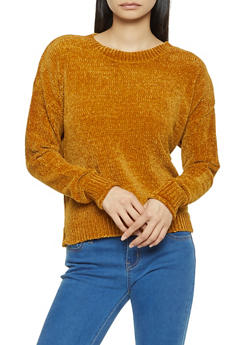 Crew Neck Chenille Sweater - 3020054265926