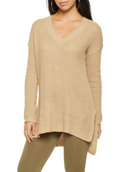 Knit V Neck Sweater - 3020054266217