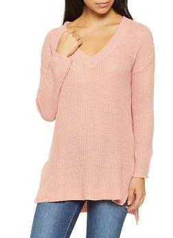 Knit V Neck Sweater - 3020054266217