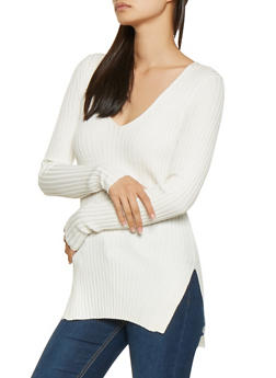 Rib Knit Sweater - 3020054267184