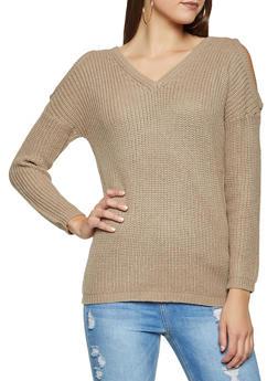 Cold Shoulder Sweater - 3020054267838