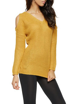 Cold Shoulder Sweater - 3020054267838