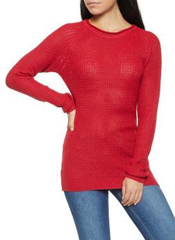 Waffle Knit Sweater - 3020054267907