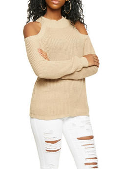 Cold Shoulder Sweater - 3020054268827