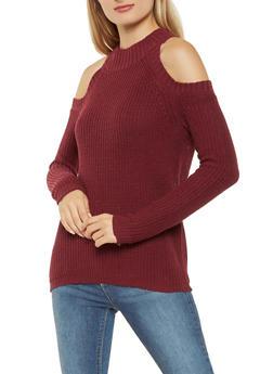 Cold Shoulder Sweater - 3020054268827