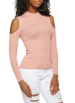 Cold Shoulder Sweater - 3020054268911