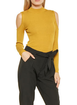 Cold Shoulder Sweater - 3020054268911