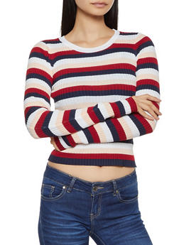 Striped Rib Knit Sweater | 3020058750322 - 3020058750322