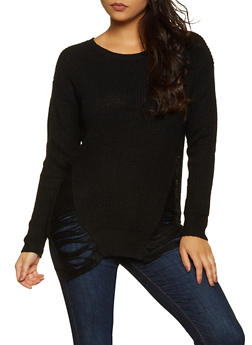 Distressed Tunic Sweater | 3020074051465 - 3020074051465