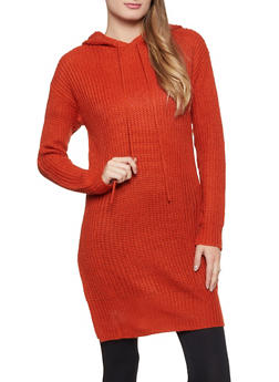 Hooded Knit Tunic - 3020075172091