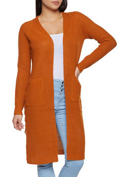 Lace Up Side Knit Duster - 3022015050367