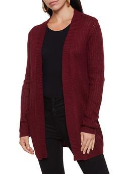 Solid Knit Cardigan - 3022038342222