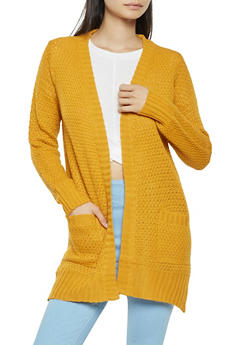 Waffle Knit Cardigan - 3022038348212