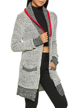 Shawl Collar Knit Cardigan - 3022038348213