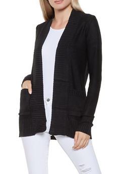 Solid Knit Cardigan - 3022054265347