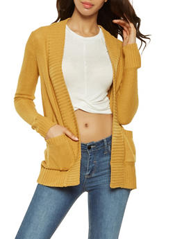Solid Knit Cardigan - 3022054265347