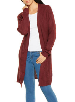 Long Sleeve Knit Cardigan - 3022054265925