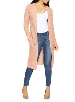 Waffle Knit Duster - 3022054266818