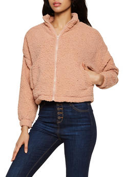 Zip Up Sherpa Sweatshirt - 3022074051986