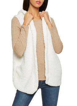 Hooded Sherpa Vest - 3030058751106