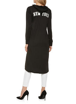 New York Graphic Hooded Duster - BLACK - 3031038342272