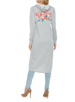 New York Graphic Hooded Duster - HEATHER - 3031038342272