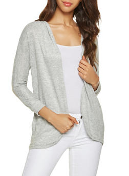 Hooded Cardigan - HEATHER - 3031038343131