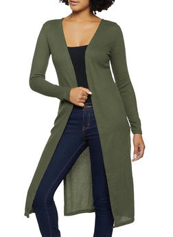 Waffle Knit Duster - 3031038344202