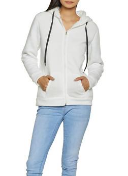 Hooded Sherpa Lined Sweatshirt - 3031038344411