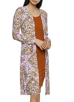 Printed Duster - 3031038349393