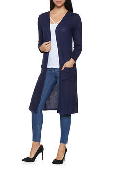 Long Sleeve Knit Duster - 3031054260676