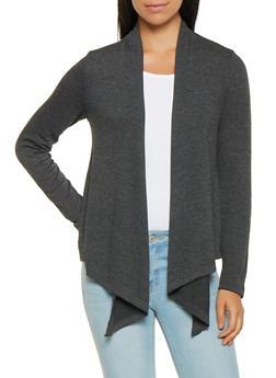 Knit Drape Front Cardigan - 3031054261740
