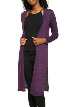 Two Tone Knit Duster - 3031058750876