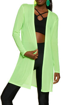 Mesh Long Sleeve Duster | 3031058751815 - NEON LIME - 3031058751815