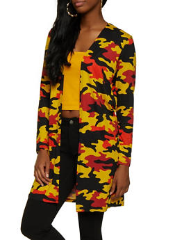 Soft Knit Camo Duster - 3031058751816