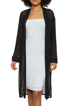 Mesh Long Sleeve Duster - 3031074293086